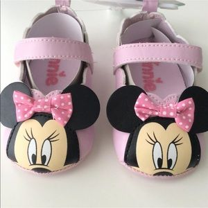 Disney Minnie Mouse Baby Shoes | Girls 6-9M Pink